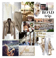 """""""Road trip"""" by the-wardrobe-of-wishes ❤ liked on Polyvore featuring Babette, Dorothy Perkins, MAC Cosmetics, Gypsy Soul, LE3NO, Michael Kors and Converse"""