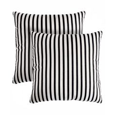 These decorative pillows are a great way to spruce up any room in your home. The unique stripe print comes in black and white, ensuring as great fit within a variety of decors.