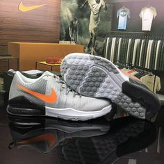 Nike Running 2017 Shop with Confidence Nike Zoom Train Action Light Grey Cold Orange Shoe For Discount