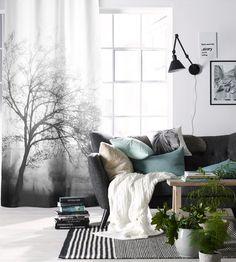 ellos,penkki,olohuone,sohva,sisustustyynyt,sohvatyynyt,koristetyynyt,viltti,harmaa,vaaleat sävyt,harmonia,mintunvihreä,kuvio,printti,verhot,verhoilu,seinävalaisin,koriste-esineet,matto,puu,maljakot,valoisa,trendikäs,luonto,tekstiilit,tyynyt,syksy
