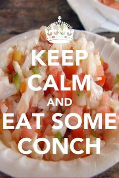 This image came from the most awesome place to eat conch in the Caribbean, Da Conch Shack.