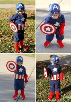 DIY Captain America Costume from sweat shirt and pants