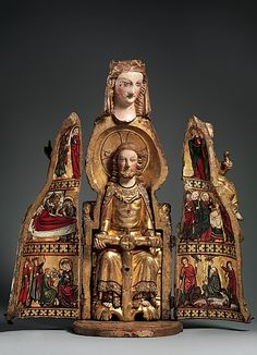 Shrine of the Virgin -- Circa 1300 -- Germany -- Oak, linen covering, polychromy, gilding, & gesso -- The Metropolitan Museum of Art Metropolitan Museum, Memento Mori, Medieval Art, Sacred Art, Outdoor Art, Christian Art, Religious Art, Virgin Mary, Our Lady