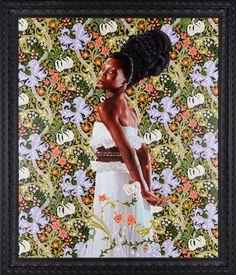 "Kehinde Wiley ~ Mrs. Waldorf Astor, 2012 ~ Oil on linen 72"" x 60"""