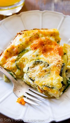A lightened-up, healthy crustless quiche with heavy flavor and little calories. Get creative and use your favorite vegetables and spices!