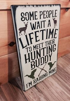 Deer Hunting Buddy Rustic Duck Sign Primitive Cabin Camp Decor Wooden Nursery | Home & Garden, Home Décor, Plaques & Signs | eBay!