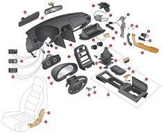 Interior Replacement Parts - Replacement Parts - Interior - Miata Car Interior Design, Interior Paint Colors, Mx5 Na, Mazda Roadster, Mazda Miata, School Design, Car Mods, Colorful Interiors, School Architecture