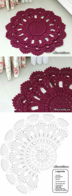 62 Best Ideas For Crochet Mandala Rug Diagram Crochet Doily Rug, Crochet Doily Diagram, Crochet Carpet, Crochet Mandala Pattern, Crochet Tablecloth, Crochet Patterns, Mode Crochet, Crochet Home, Crochet Crafts