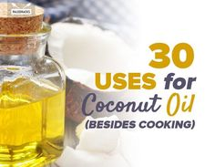 30 uses for coconut oil that don't involve cooking! LoL I love it in my coffee!!!! Did you know that coconut oil is also great for cleaning?! Or that it's a fantastic beauty product?