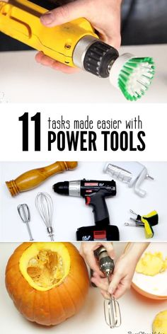 Complete ordinary and mundane household tasks with ease and fun using power tools as basic a a cordless drill. You'll wish you had heard of and tried these diy tips and tricks sooner.