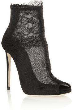 ♛ ℘opular ℘rincess | Dolce and Gabbana Lace Shoe Boot