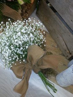 Babies breath wedding bouquet