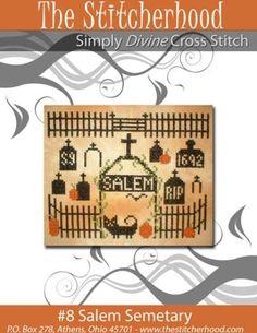 New+Primitive+Halloween+Cross+Stitch+Salem+by+stitcherhood+on+Etsy,+$7.00