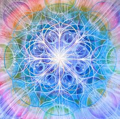 """""""Halo"""" sacred geometry painting by a Vancouver Island artist.  www.suzannart.com   #sacred #geometry #mandala Interstellar, Flower Of Life, Divine Feminine, Sacred Geometry, 2 Colours, Mother Earth, Fractals, Cosmic, Watercolor Paintings"""