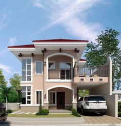 Salones Top 5 Luxury Exterior Design Concepts – Amazing Architecture Magazine How To Choose A Tool B Two Story House Design, 2 Storey House Design, Simple House Design, Bungalow House Design, House Front Design, Modern House Design, Contemporary Design, House Paint Exterior, Dream House Exterior