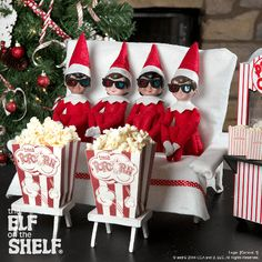 """Movie Night! Maybe these scout elves are watching """"An Elf's Story!"""" 