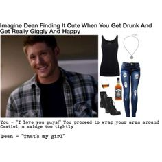 Dean finding it cute when you get drunk Supernatural Fanfiction, Supernatural Tattoo, Supernatural Imagines, Supernatural Wallpaper, Supernatural Memes, Supernatural Playlist, Supernatural Crossover, Supernatural Pictures, Dean Winchester Imagines