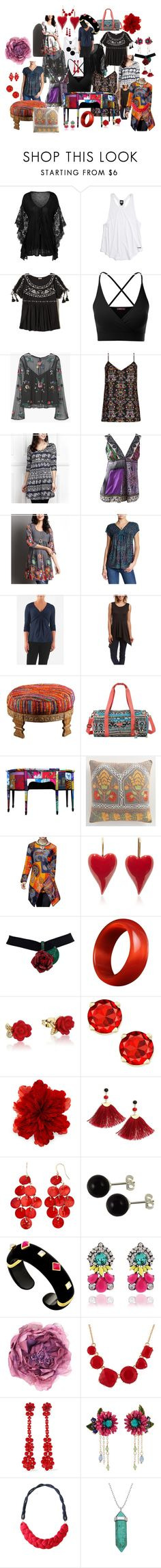 """""""Truly Bazaar"""" by billiej-712 ❤ liked on Polyvore featuring Ivy Park, Hollister Co., Doublju, MANGO, City Chic, R&B, Etro, Reborn, Lucky Brand and Casa Lee"""