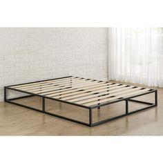 Modern Studio Platforma Full Metal Bed Frame Black