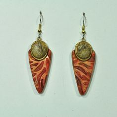 Handmade Polymer Clay Earring E14-64 by jangeisen on Etsy