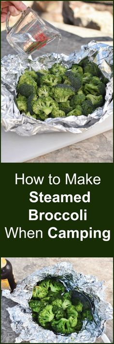 Yes you can have fresh steamed veggies even when you're camping! Yes, you can eat fresh, steamed vegetables, even if you are camping! Steamed Vegetables, Steamed Broccoli, Veggies, Camping Bedarf, Family Camping, Camping Recipes, Glamping, Camping Foods, Camping Kitchen