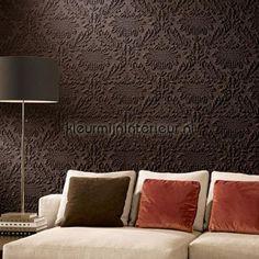 Charm 3D ornament donkerbruin behang 30511 exclusief Arte