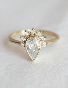 unique wedding ring set More