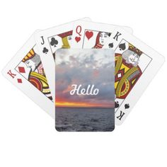 Fiery Sunset Playing Cards - home gifts ideas decor special unique custom individual customized individualized