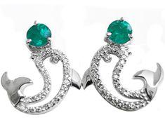 Beautiful emerald earrings