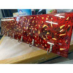 #schlüsselbrett #blattgold #lamona_design #handmade #handeerksskunst Design, Gold Leaf, Boards, Design Comics