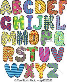 Resultado de imagem para clip art de letras do alfabeto