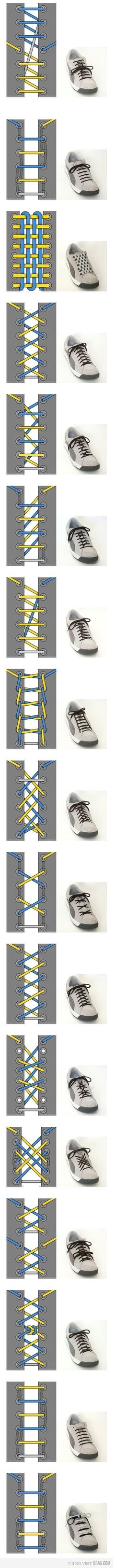 When I was a kid I knew people who strung their laces differently, but I never knew how. Wish I had this as a kid.