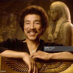 Smokey Robinson with Egyptian style art