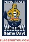 Game Day - PSU Garden Flag Penn State Game, Mls Soccer, Nittany Lion, House Flags, College Fun, Garden Flags, Fan Gear, Tailgating, Favorite Color