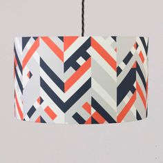 Lorna Syson Warwick Red Sky Lampshade - Small 20cm diameter x 14cm deep | WarSH | £49.00