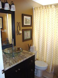 Granite & Glass - Bathroom Sinks and Vanities: Beautiful Ideas From Rate My Space on HGTV love the color