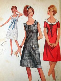 Simplicity 5961  Extremely Cute Mod Dress  Petal by Clutterina