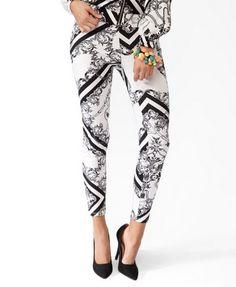 Hello Kitty® Filigree Print Leggings | FOREVER 21 - 2030186821