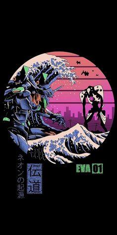 Neon Genesis Evangelion, Arte Cyberpunk, Cyberpunk Aesthetic, Dope Wallpapers, Animes Wallpapers, Japan Design, Cartoon Wallpaper, Retro Wallpaper, Aesthetic Iphone Wallpaper