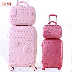 Travel in style 💙😍 Sanrio Hello Kitty, Hello Kitty House, Hello Kitty My Melody, Pink Hello Kitty, Hello Kitty Items, Hello Kitty Accessories, Handbag Accessories, Miss Kitty, Shopping
