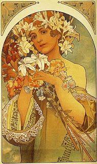 Flower.  Alphonse Mucha