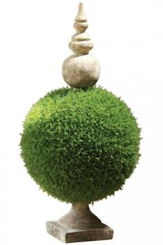 "moss sphere topiary 32""h $129...too expensive!...can i recreate on the cheap?...hobby lobby here i come!...lol..."