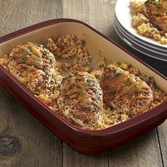 Fiesta Chicken and Rice Bake - The Pampered Chef®