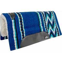 Blue/Turquoise/Black Sensorflex Classic Felt Saddle Pad