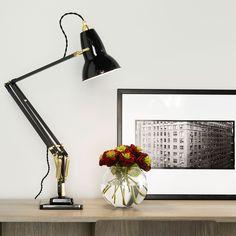 Anglepoise Original 1227 Brass Deep Slate Desk Lamp   Desk Lamps   Lamps   Lighting   Heal's