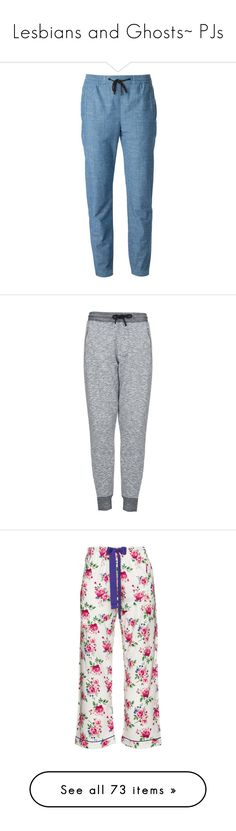 """""""Lesbians and Ghosts~ PJs"""" by tabithahallows ❤ liked on Polyvore featuring activewear, activewear pants, pants, trousers, blue, drawstring sweatpants, blue sweatpants, proenza schouler, drawstring sweat pants and straight leg sweatpants"""