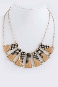 Cleopatra Antiqued Bib Necklace