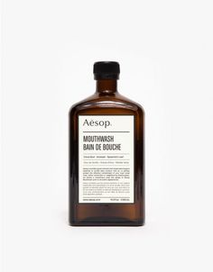 Refreshing alcohol-free mouthwash from Aesop. Features olfactory protection without disturbing saliva production, with a clove bud, aniseed, and spearmint leaf flavor and scent.