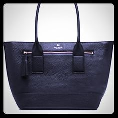 """SALENWT Kate Spade Harmony Southport Avenue DETAILS SIZE 11.3""""h x 16.4""""w x 6.4""""d drop length: 9"""" MATERIAL chunky pebbled cowhide library stripe lining 14-karat light gold plated hardware style # wkru3604 DETAILS over the shoulder bag with zip top closure exterior zipper compartment tassle pull interior zip and double slide pockets kate spade new york gold printed signature with tiny cutout spade kate spade Bags Totes"""