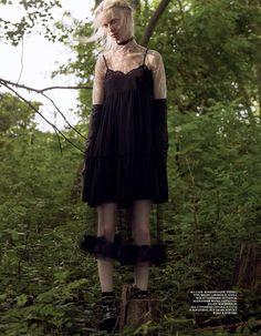Dark & Heavy  Interview Russia October 2015  Photographer: Robbie Fimmano  Stylist: Anders Solvsten  Makeup: Fara Homidi  Models: Frances Coombe, Cierra Skye, & Sarah Abney